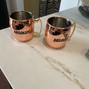 Absolute copper mugs - perfect condition